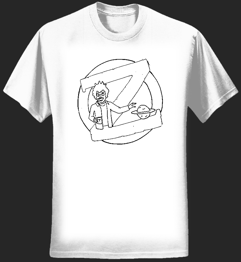 Planet Zog Records T-Shirt [White] - CHRISTOF VAN DER VEN