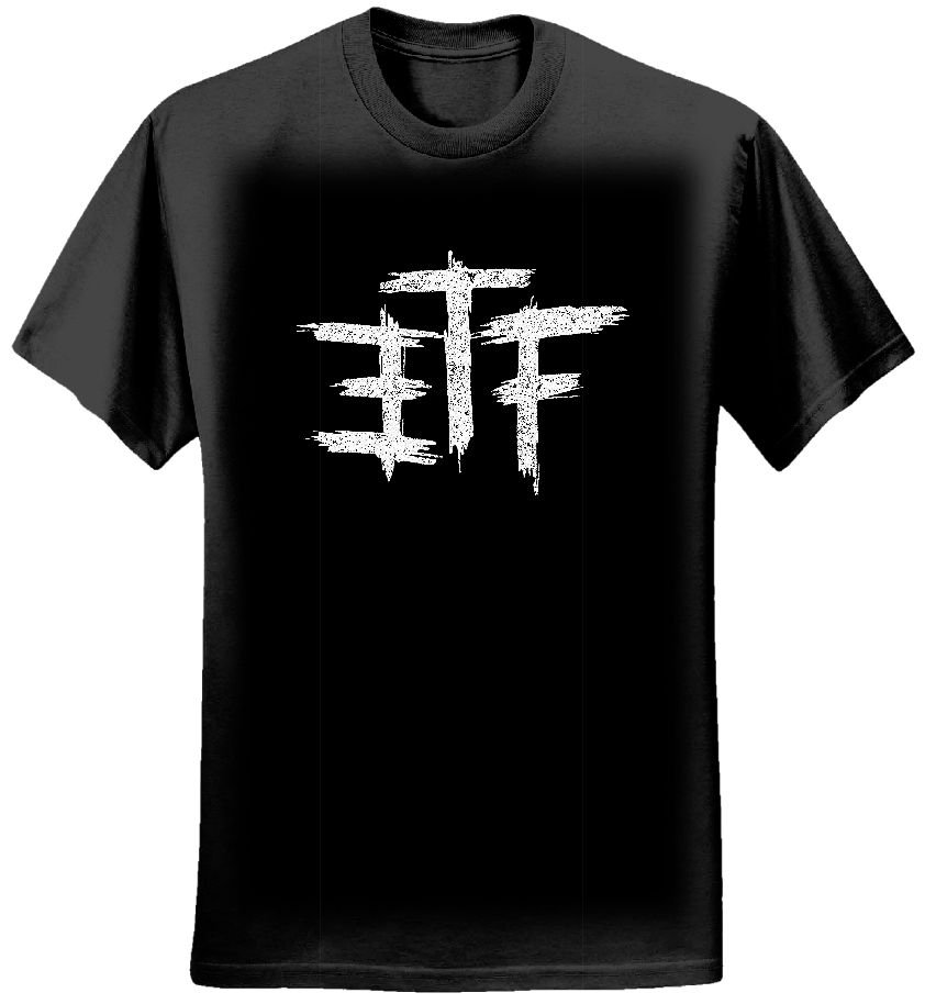 ETF Initial Black Tee - Escape the Future