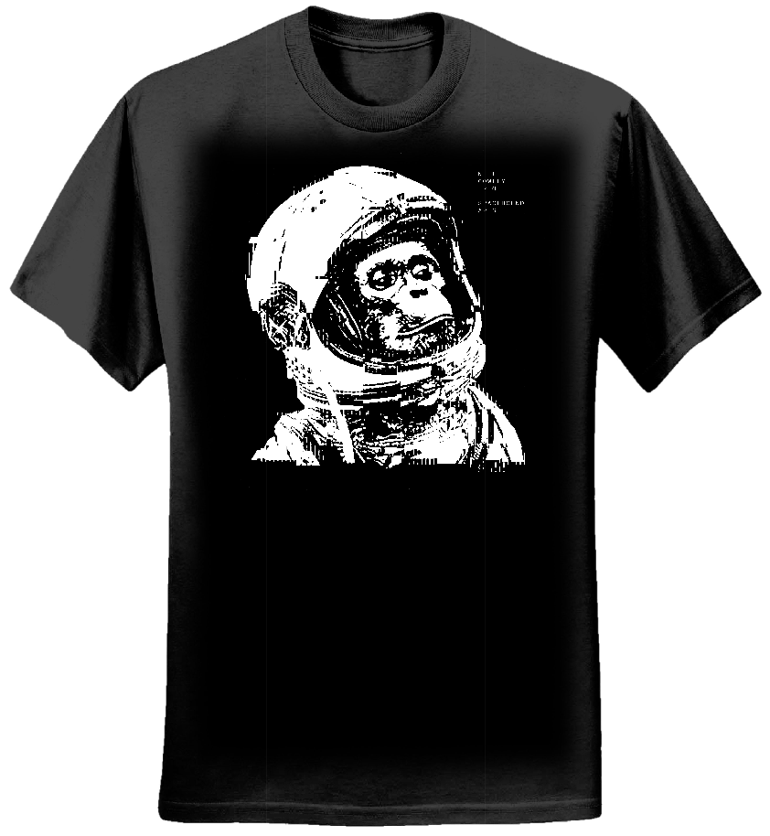 Spacebound Apes Black T shirt (Mens) - neilcowleytrio