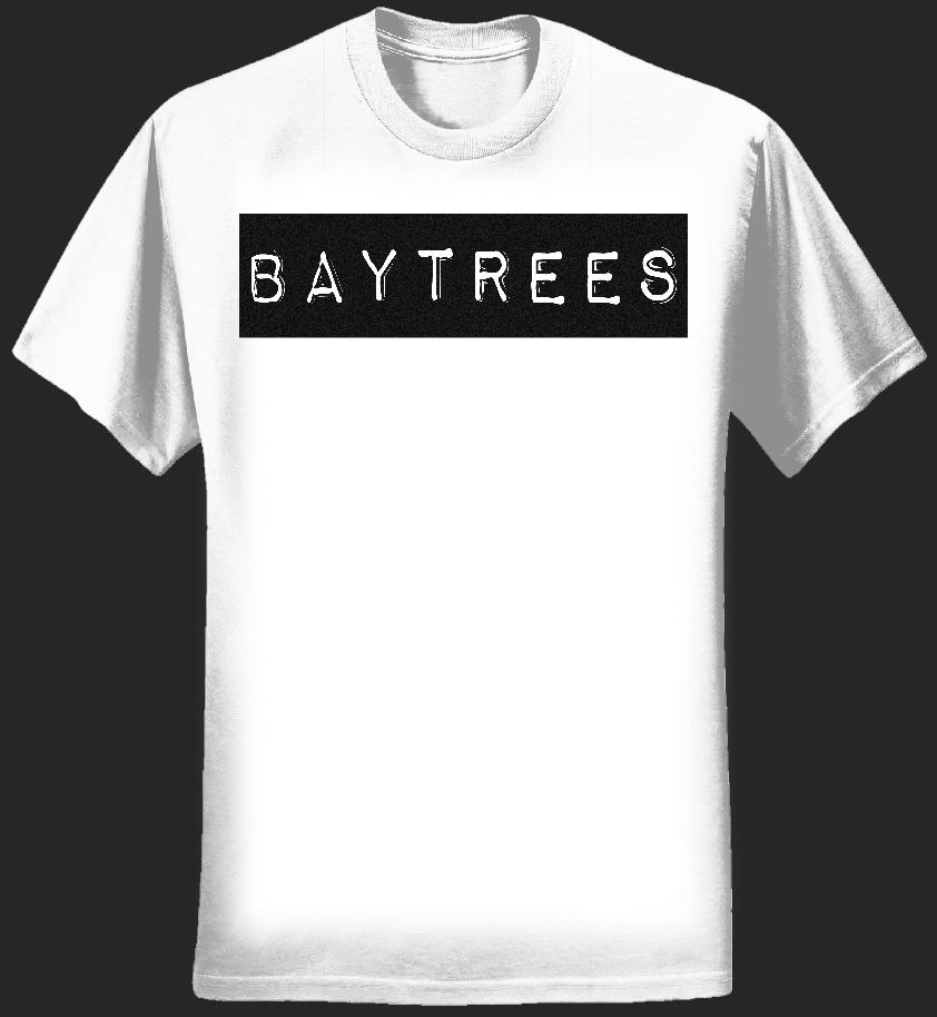 White T-Shirt/Black Logo - Baytrees